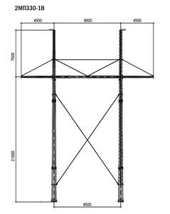 Промежуточная опора 2МП330-1В