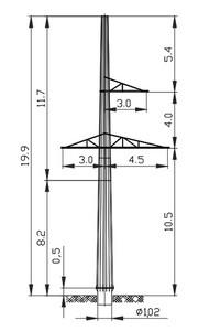Анкерная опора АМ110-1Ф