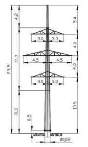 Анкерная опора АМ110-2Ф