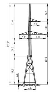 Анкерная опора АМ110-3Ф4+5
