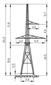 Анкерная опора АМ110-3Ф4
