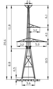 Анкерная опора АМ110-3Ф4Т