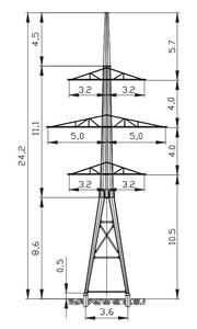 Анкерная опора АМ110-4Ф4