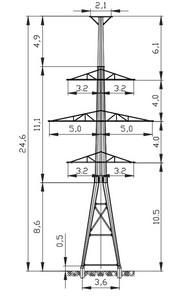 Анкерная опора АМ110-4Ф4Т