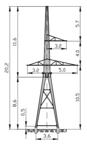 Анкерная опора АМ110-5Ф4