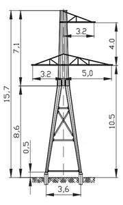 Анкерная опора АМ110-5Ф4Р