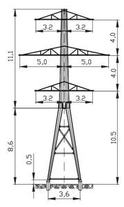Анкерная опора АМ110-6Ф4Р