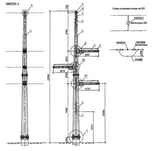 Анкерная опора АМ220-1