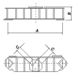 Для спаренных фундаментов под тяжелые анкерно-угловые опоры