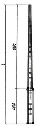 Дополнительная номенклатура металлических опор контактной сети из гнутого швеллера длиной более 12м альбом №6226И
