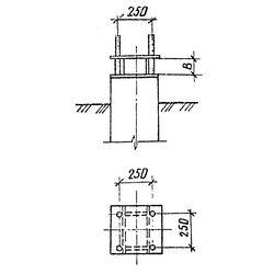 Односвайные фундаменты подтяжелые промежуточные ианкерно-угловые опоры