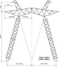 Промежуточная опора наоттяжках ПП500-1, ПП500-3, ПП500-5, ПП500-7