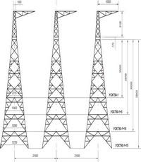 Опора анкерно-угловая трехстоечная свободностоящая УСК750-1, УСК750-1+5, УСК750-1+10, УСК750-1+15