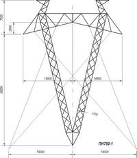 Промежуточные опоры наоттяжках ПН750-1