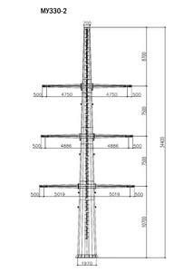 Угловая опора МУ330-2