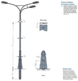 Эскиз телескопической опоры ОСтлск