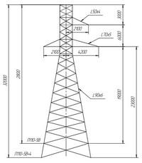 Опора промежуточная П110-5В, П110-5В+4
