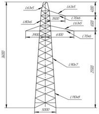 Опора промежуточная П220-3 (вариант обозначения)