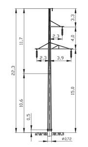 Промежуточная опора ПМ110-3Ф