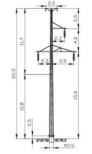 Промежуточная опора ПМ110-3ФТ