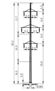 Промежуточная опора ПМ110-6Ф