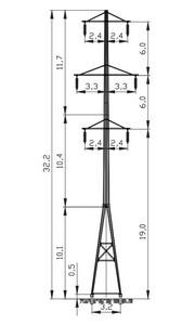 Промежуточная опора ПМ110-8Ф4Р