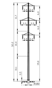 Промежуточная опора ПМ110-8ФР