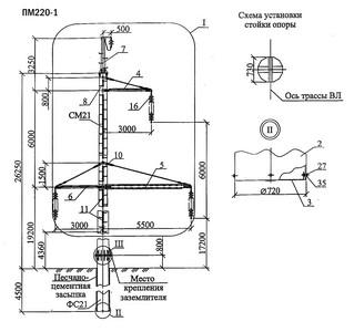 Промежуточная опора ПМ220-1