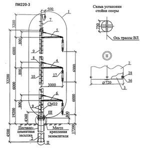 Промежуточная опора ПМ220-3