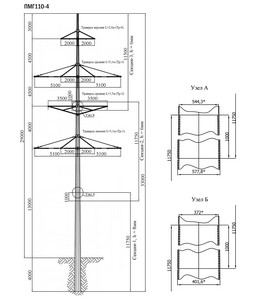 Промежуточная опора ПМГ110-4