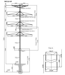 Промежуточная опора ПМГ110-4УР