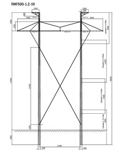 Промежуточная опора ПМГ500-1.2-10