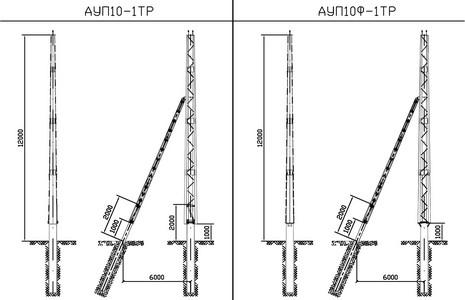 Анкерные угловые повышенные опоры АУП10-1ТР, АУП10Ф-1ТР