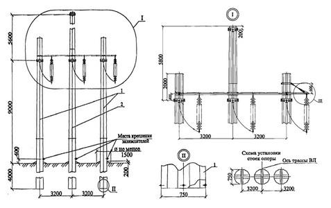 Угловая анкерная опора УАМ110-1