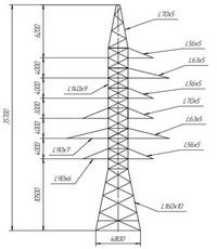 Опора анкерно-угловая УС110-8