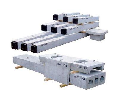 Унифицированные железобетонные изделия подстанций: стойки УСО, плиты УБК